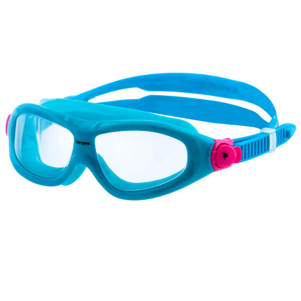 Navigator-Mask-Jnr-Clear---Turquoise-Pink