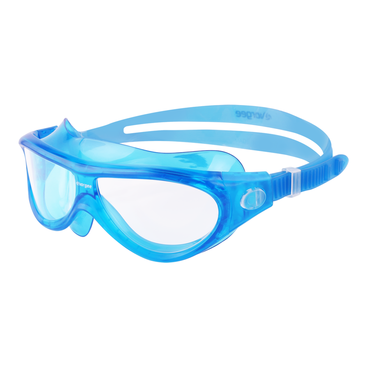 Blue junior mask style swimming goggles for children. Endorsed by Kids Alive Do the Five