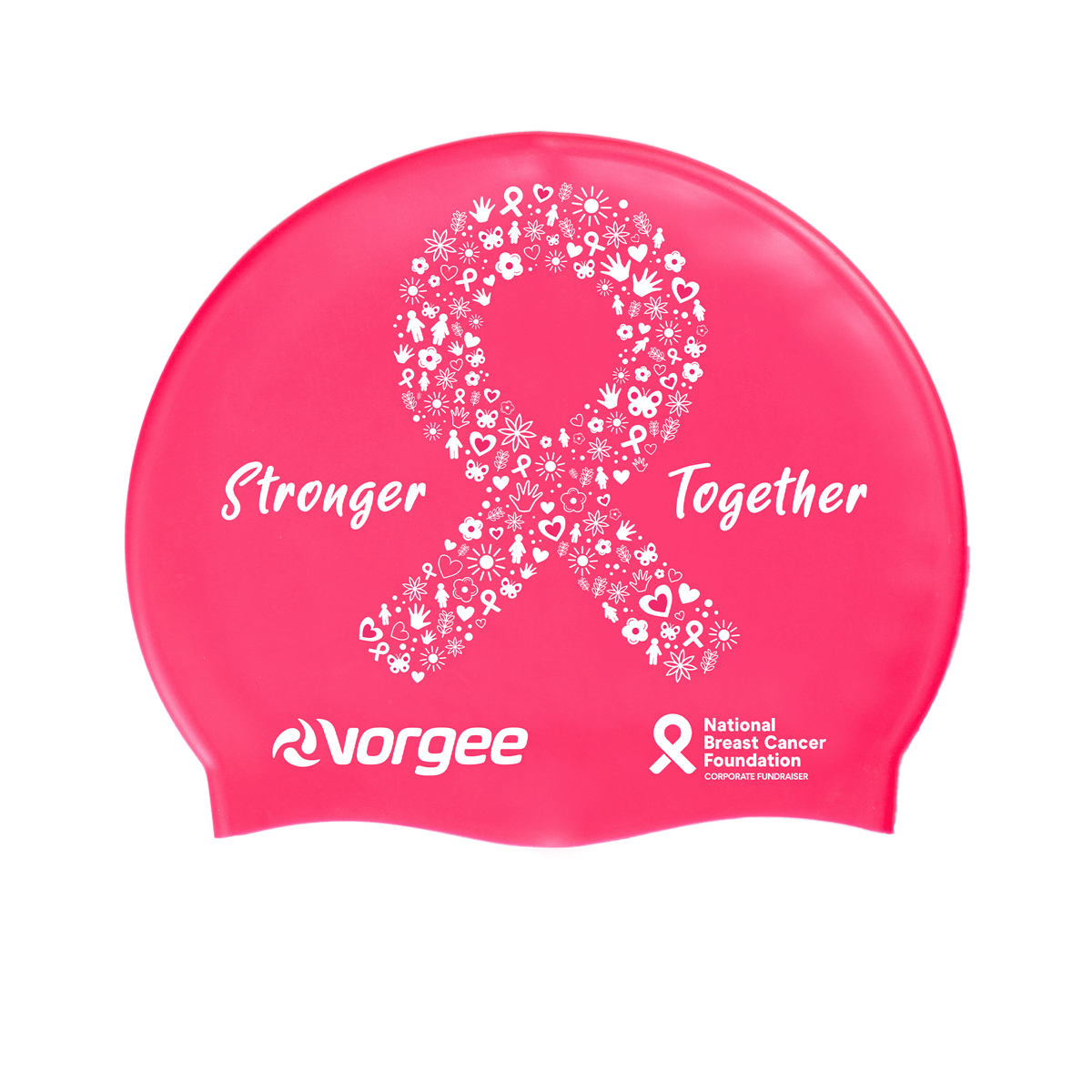 Vorgee Silicone Swim Cap - National Breast Cancer Foundation NBCF